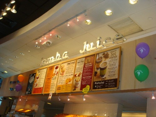 Inside a Jamba Juice store
